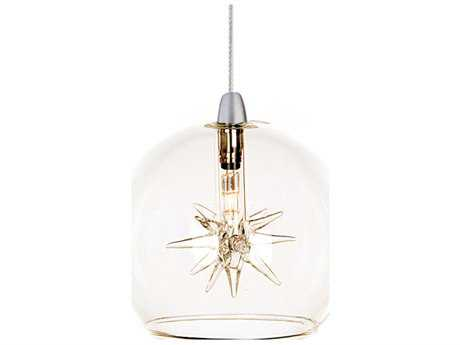 ET2 Starburst Satin Nickel Mini-Pendant with Clear Glass ET2EP9608024