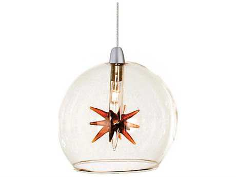 ET2 Starburst Satin Nickel Mini-Pendant with Clear & Amber Glass ET2EP9608025