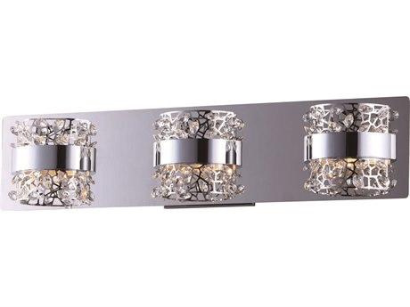 ET2 Tiara Polished Chrome Three-Light 22'' Wide LED Vanity Light ET2E2033320PC