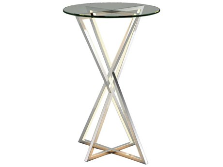 ET2 York Polished Chrome 15'' Wide Round End Table