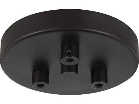 Feiss Oil Rubbed Bronze Three-Light Multi-Port Canopy with Swag Hooks FEIMPC03ORB