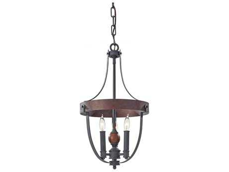 Feiss Alston Antique Forged, Charcoal Brick & Acorn Medium Chandelier FEIF27953AFCBA