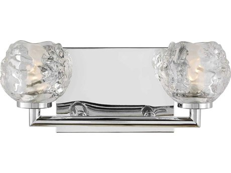 Feiss Arielle Chrome Glass Vanity Light