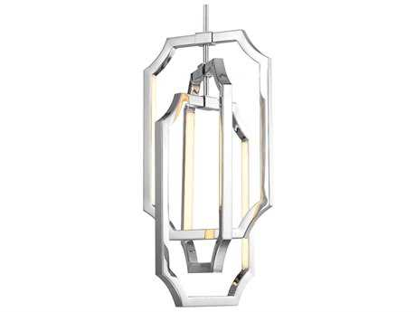 Feiss Audrie Polished Nickel 10'' Wide Six-Light Chandelier FEIF29546PN