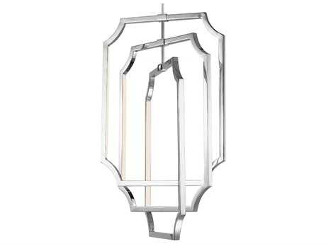 Feiss Audrie Polished Nickel 17'' Wide Six-Light Chandelier FEIF29556PN