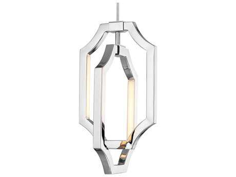 Feiss Audrie Polished Nickel Four-Light 7.13'' Wide LED Pendant Light FEIP1325PN