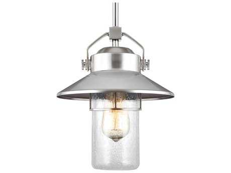 Feiss Boynton Painted Brushed Steel One-Light 9'' Wide Edison Outdoor Hanging Latern FEIOL13909PBS