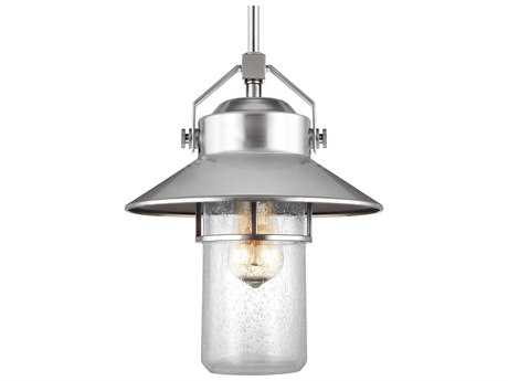 Feiss Boynton Painted Brushed Steel One-Light 10.5'' Wide Edison Outdoor Hanging Latern FEIOL13911PBS