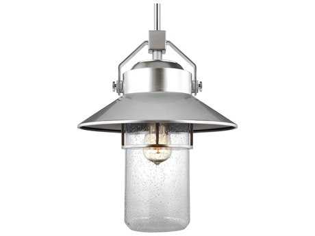 Feiss Boynton Painted Brushed Steel One-Light 12.5'' Wide Edison Outdoor Hanging Latern FEIOL13912PBS