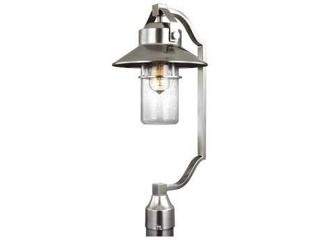 Feiss Boynton Painted Brushed Steel One-Light 10.5'' Wide Edison Outdoor Post Latern