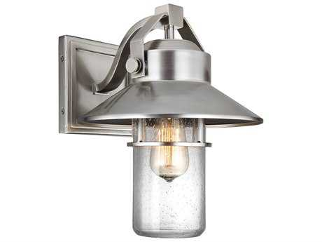 Feiss Boynton Painted Brushed Steel One-Light 10.5'' Wide Edison Outdoor Wall Latern