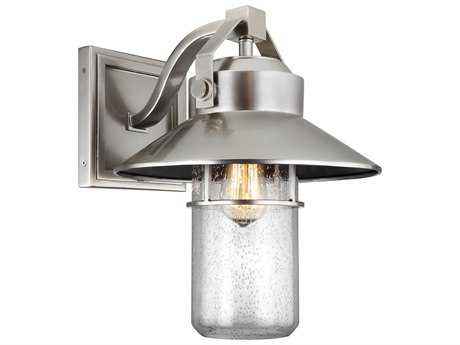 Feiss Boynton Painted Brushed Steel One-Light 12.5'' Wide Edison Outdoor Wall Latern FEIOL13902PBS