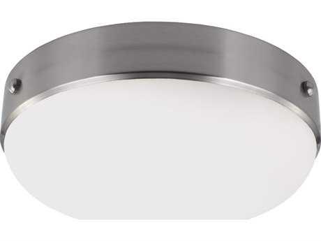 Feiss Cadence Brushed Steel Two-Light Flush Mount Light FEIFM390BS