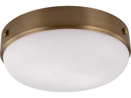 Feiss Cadence Dark Antique Brass Two-Light Flush Mount Light FEIFM390DAB
