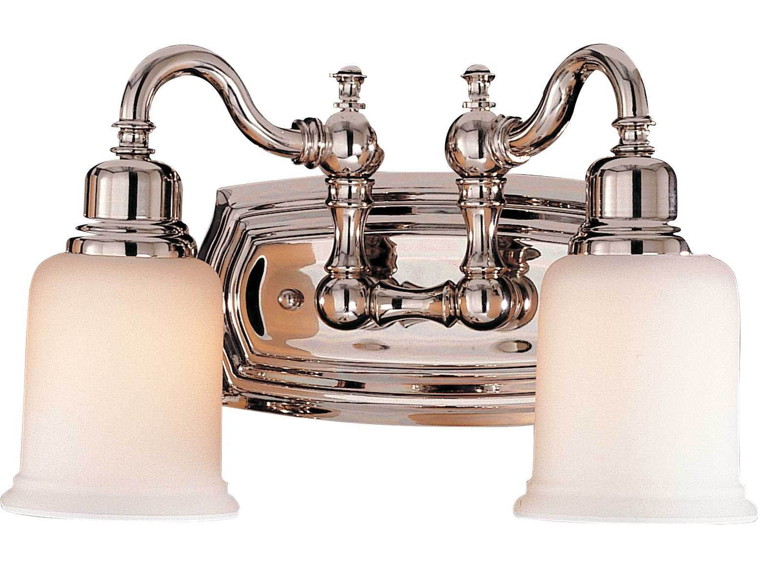 Feiss Canterbury 3 Light Vanity Fixture Oil Rubbed Bronze: Feiss Canterbury Polished Nickel Two-Light 14'' Wide