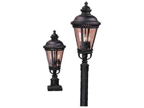Feiss Castle Black Three-Light Outdoor Post Light FEIOL1907BK