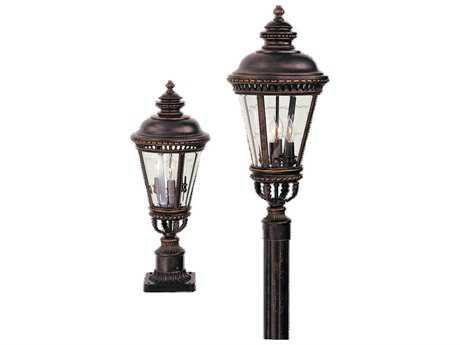 Feiss Castle Grecian Bronze Three-Light Outdoor Post Light FEIOL1907GBZ