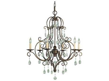 Feiss Chateau Mocha Bronze 25'' Wide Six-Light Chandelier FEIF19026MBZ