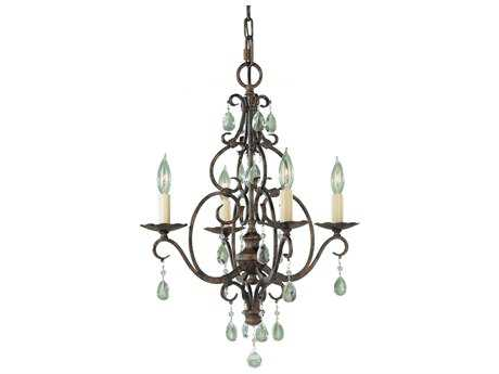 Feiss Chateau Mocha Bronze 17'' Wide Four-Light Chandelier FEIF19044MBZ