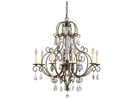 Feiss Chateau Mocha Bronze 32'' Wide Eight-Light Chandelier FEIF23038MBZ