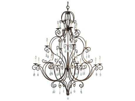 Feiss Chateau Mocha Bronze 53.5'' Wide 16-Light Grand Chandelier FEIF2110844MBZ