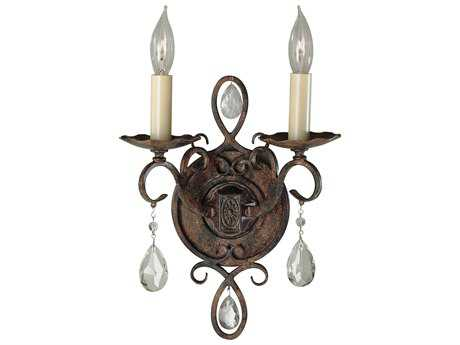 Feiss Chateau Mocha Bronze Two-Light 8.5'' Wide Wall Sconce FEIWB1227MBZ