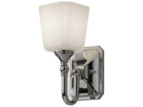 Feiss Concord Polished Nickel 4.63'' Wide Vanity Light with White Opal Etched Glass Shade FEIVS19701PN