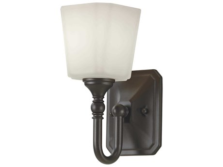 Feiss Concord Oil Rubbed Bronze Glass Vanity Light