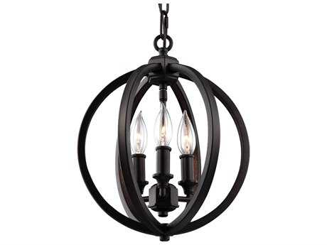 Feiss Corinne Oil Rubbed Bronze 11.25 Inch'' Wide Three-Light Mini-Chandelier FEIF30593ORB