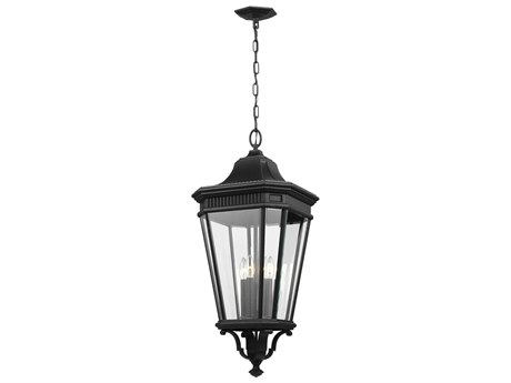 Feiss Cotswold Lane Black Glass Outdoor Hanging Light