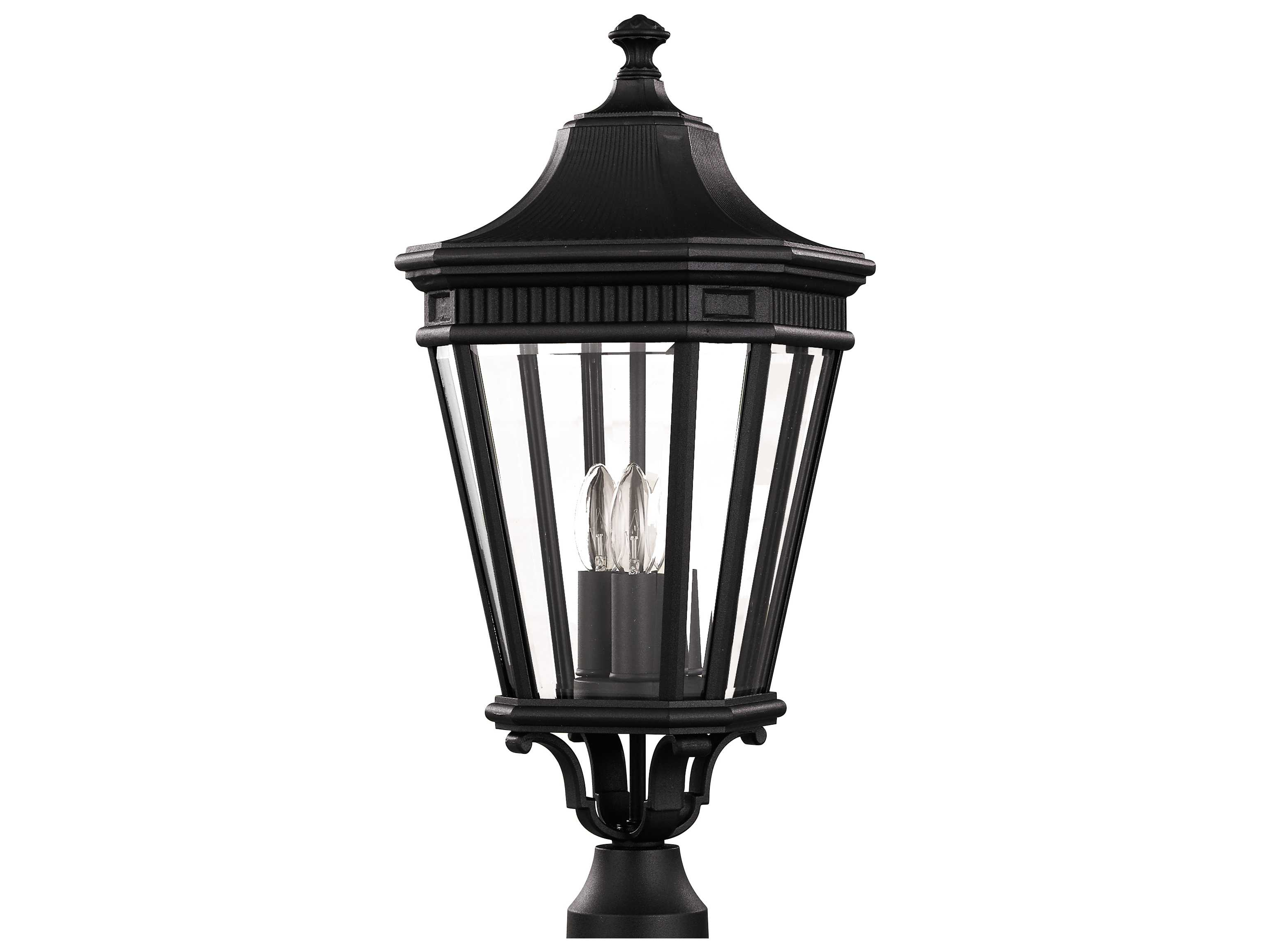 Feiss Cotswold Lane Black Three Light 9 5 Wide Outdoor