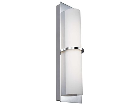 Feiss Cynder Chrome One-Light 5.25'' Wide LED Wall Sconce FEIWB1851CHL1
