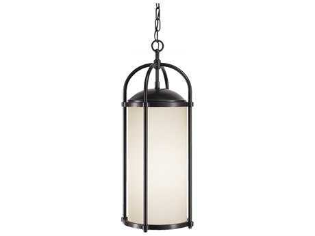 Feiss Dakota Espresso 9.5'' Wide Edison Bulb Outdoor Hanging Pendant Light with White Opal Etched Glass Shade FEIOL7611ES