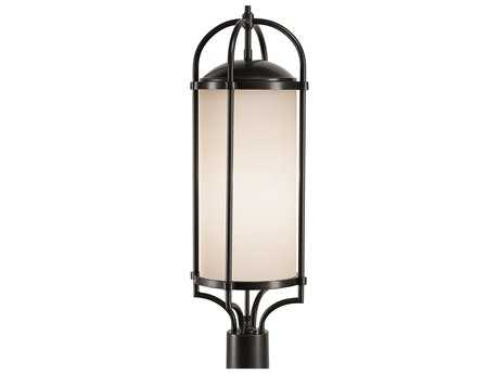 Feiss Dakota Espresso Three-Light 9.5'' Wide Outdoor Post Mount Light with White Opal Etched Glass Shade FEIOL7607ES