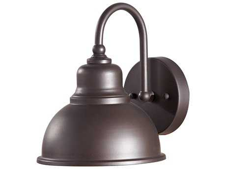 Feiss Darby Oil Rubbed Bronze 7.5'' Wide Edison Bulb Outdoor Wall Sconce with Metal Shade