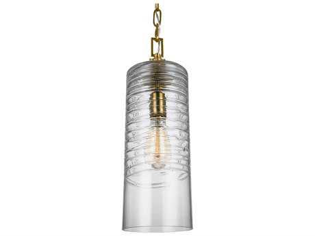 Feiss Elmore Burnished Brass One-Light 6'' Wide Edison Mini-Pendant Light FEIP1446BBS