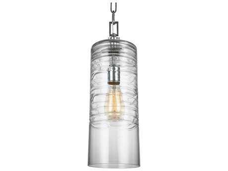 Feiss Elmore Chrome One-Light 6'' Wide Edison Mini-Pendant Light FEIP1446CH
