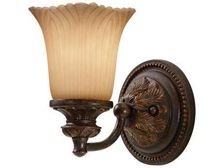 Feiss Emma Grecian Bronze Rustic Lodge Glass Vanity Light FEIVS19501GBZ