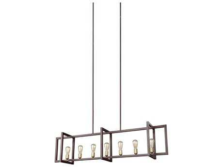 Feiss Finnegan New World Bronze Seven -Light 12'' Wide Edison Island Light FEIF31487NWB