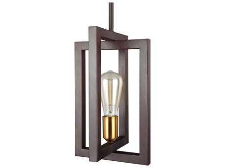Feiss Finnegan New World Bronze One-Light 8'' Wide Edison Mini-Pendant Light