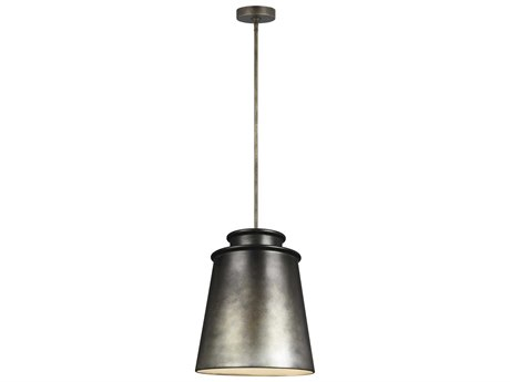 Feiss Fiona Oil Can Grey 15'' Wide Pendant
