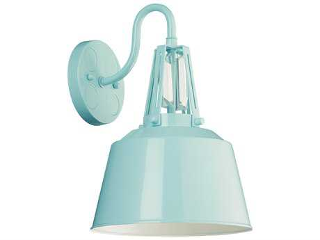 Feiss Freemont Hi Gloss Blue Industrial Wall Sconce FEIWB1726SHBL