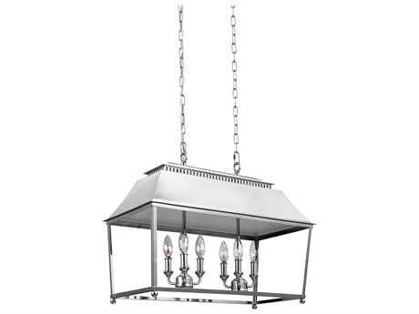 Feiss Galloway Polished Nickel Six-Light 26'' Wide Island Light FEIF31056PN