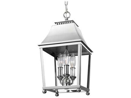 Feiss Galloway Polished Nickel Three-Light 8.5'' Wide Mini-Chandelier FEIF30883PN