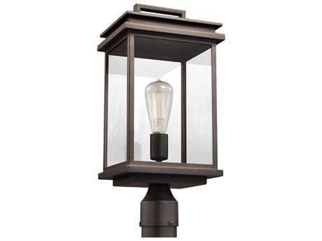 Feiss Glenview Antique Bronze One-Light 7.75'' Wide Edison Outdoor Post Latern