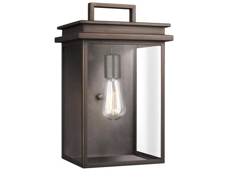 Feiss Glenview Antique Bronze One-Light 9'' Wide Edison Outdoor Wall Latern
