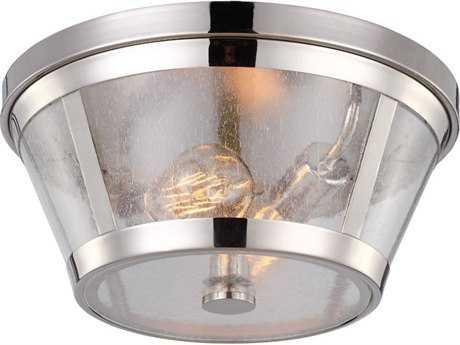 Feiss Harrow Polished Nickel Two-Light Flush Mount Light FEIFM393PN