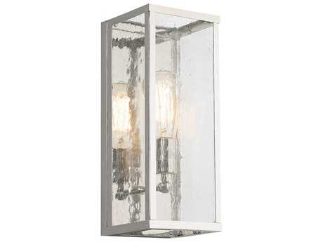 Feiss Harrow Polished Nickel 5.5'' Wide Wall Sconce with Clear Seedy Glass Shade FEIWB1713PN