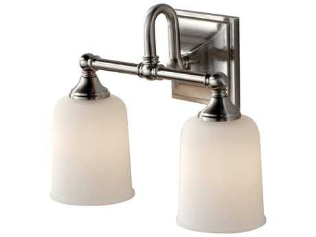 Feiss Harvard Chrome Two-Light 14'' Wide Vanity Light with White Opal Etched Glass Shade FEIVS27002CH