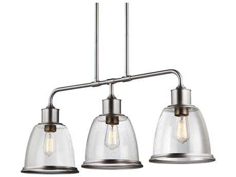 Feiss Hobson Satin Nickel Three-Light Island Light FEIF30193SN